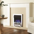 Remote Controlled Electric Wall Fire Gazco Logic2 Electric Wave Box Profil Fire, Choice of Colour.