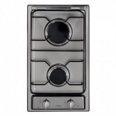 Gas Hob Stainless Steel Two burner domino gas hob CDA TGCHCG301SS