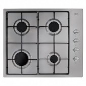 Four Burner Gas Hob TGCCDA HG6150SS in Stainless Steel with Enamel Pan Supports