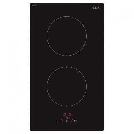 Domino two zone electric induction hob, frameless CDA TGCHN3621FR eletric induction hob