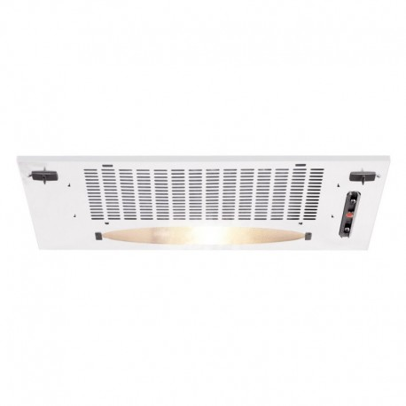 Integrated under canopy extractor CDA CCA5 cooker hood, white, silver, built in cooker hood