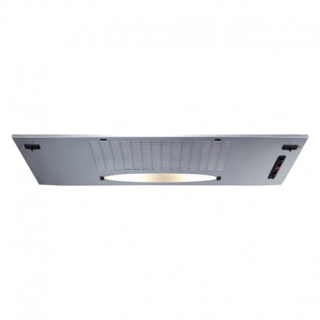 Under press canopy built in CDA CCA7SI canopy extractor hood in silver