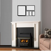 Gas Fire Valor Black Beauty Slimline 4.0Kw Outset Gas Fire with High Side Control 88% Efficiency