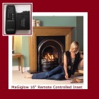 "Fully Remote Controlled Coal Effect remote gas fire. For 16"" backbrick. MG-DGF16"