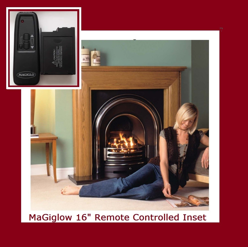 fully remote controlled coal effect remote gas fire for 16
