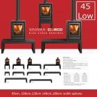 Riva Bench Low,45,100,120,140 cm range by Gazco Stovaz (Choice of Widths)