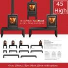 Gazco Stovaz Riva Bench High,45,100,120,140 cm range. (Choice of widths)