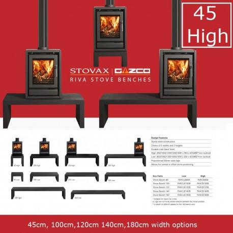Gazco Stovaz Riva Bench High,45,100,120,140 cm range.