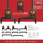 Gazco Stovaz Riva Bench High,180 cm.