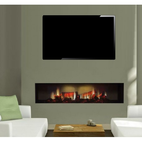 Electric Fire Dimplex Opti-V PGF 20 fully Recessed Inset hole in the wall  Electric