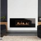 Gazco Studio 2 CF Gas Fire with Black Glass Front