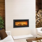 Gazco Studio 2 Profil Chimney Conventional Flue , High Efficiency 81% 6.9kw Glass Fronted Gas Fire .GS2cf