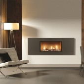 Gas Fire Gazco Studio 1 Steel, High Efficiency (83%) Balanced Flue Gas Fire.GS1bf