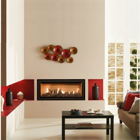 Gazco Studio 2 Edge Balanced Flue High Efficiency 92% 7KW Balanced Flue Gas fireplace Fire. GS2bf