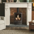 Gas Stove Gazco Gas Vogue Midi Convetional Flue, High Efficiency (75%) Contemporary Gas Stove.