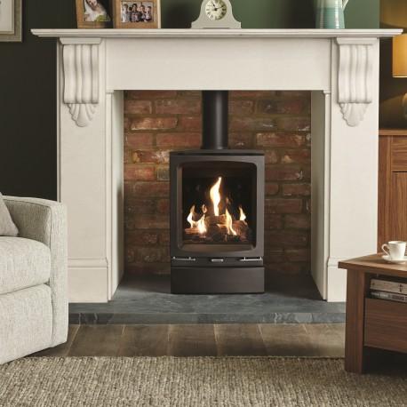 Gazco Gas Vogue Midi, High Efficiency (75%) Contemporary Gas Stove.