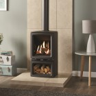 Gas Stove Gazco Gas Vogue Midi Midline Conventional Flue, High Efficiency (75%) Contemporary Gas Stove.