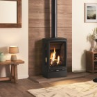 Gas Stove Gazco Gas Vogue Midi T Conventional Flue, High Efficiency (75%) Contemporary 3 Sided Gas Stove.