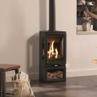 3 Sided Gas Stove Gazco Gas Vogue Midi Midline T Conventional Flue, High Efficiency (78%) Contemporary 3 Sided Stove.