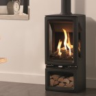 Gas Stove Gazco Gas Vogue Midi Midline T Balanced Flue, High Efficiency (80%) 3 Sided Gas Stove.