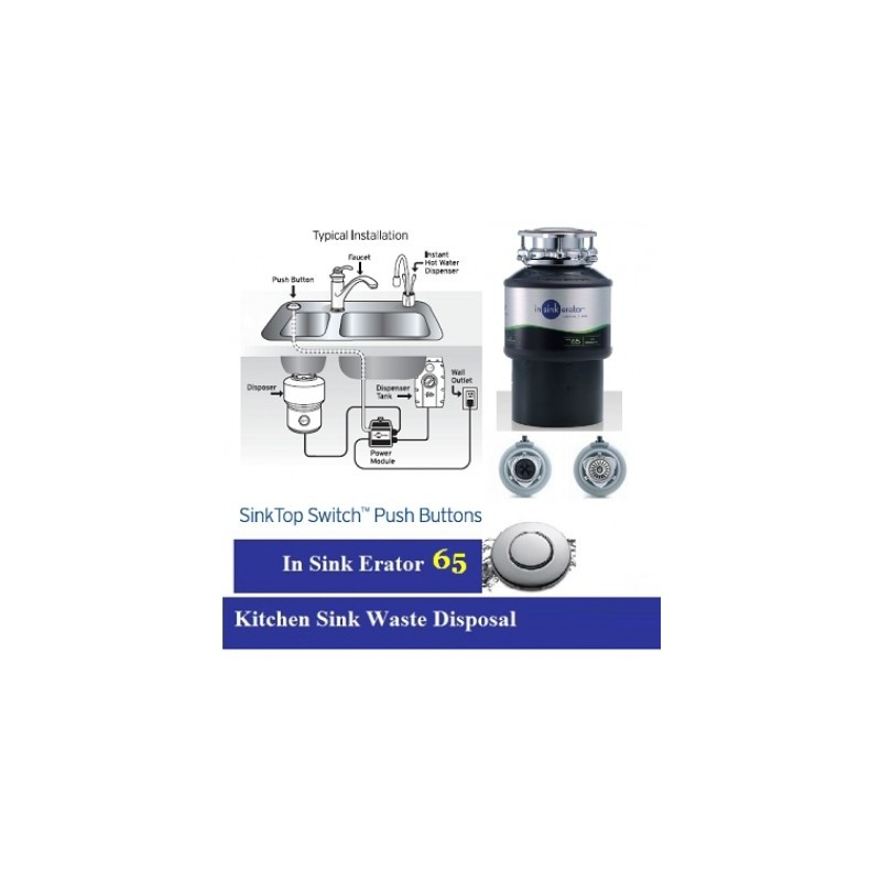 Kitchen Sink Waste Disposal Units. In Sink Erator New Insinkerator 66 Food Disposal  Unit. Complete With Air Switch