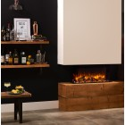 Gazco Skope 70w Wall Mounted Electric3 sided Log effect fire breast insertable, 2kw remote controlled electric fire.SKPw