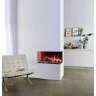 Gazco eReflex 70W Right Corner 2-Sided Electric Fire