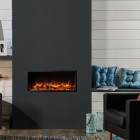 Gazco Skope 85R Inset Electric fire Frameless Built In Electric Log Effect Crystal Fire with 2kw thermostatic heater. SKPi