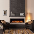 Gazco Skope 135R Electric Feature Wall Fire Built Inset Electric Log Effect Crystal Fire with 2kw thermostatic heater SKPi