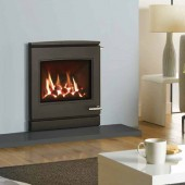 Gas Fire Yeoman CL7 glass fronted, High Efficiency (76%) Glass Fronted Slide Controller Gas Fire