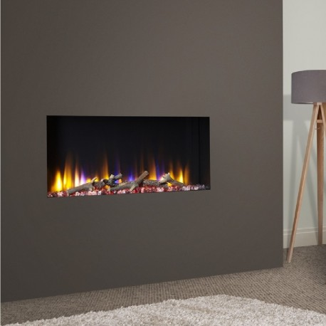 Frameless Built In Electric Log Effect Fire The Open Fronted Ultiflame Elite 33i Recessed Electric Log Effect Fire