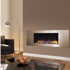 "Log Effect built in electric fire, ""Ultiflame VR Metza 59i ""remote control, recessed inset electric log effect fire."