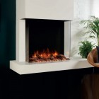Gazco Skope 75W 3 Sided Square Wall Mounted Electric Fire or Semi-Recessible to fireplace SKPw