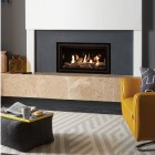 Gas Fire Gazco Studio 1 Frameless Edge, High Efficiency (72%) 4.97kw Glass Fronted Conventional Flue Chimney Gas Fire. GS1cf