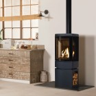 Gas Stove Gazco Loft Balanced Flue, High Efficiency (80%) Contemporary Stove.
