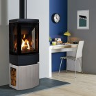 Gas Stove Gazco Loft Conventionl Flue, High Efficiency Contemporary Stove.