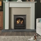 Gazco Logic Log HE CF Stockton Inset High Efficiency (84%) Glass Fronted Gas Fire. NGLHE-CF