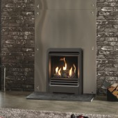 Gazco Logic Log HE CF Beat Inset High Efficiency (84%) Glass Fronted Gas Fire. GLHECFL