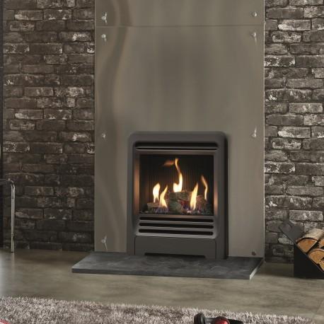 Gazco Logic Log HE CF Beat Inset High Efficiency (84%) Glass Fronted Gas Fire. NGLHE-CF