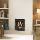 Gazco Logic Log HE CF Vogue Inset High Efficiency (84%) Glass Fronted Gas Fire. GLHECFL