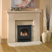 Gazco Logic Coal HE CF Stockton Carlow Inset Cast Iron Stove High Efficiency (89%) Glass Fronted Gas Fire. NGLHE-CF