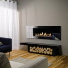 Gazco Studio 2 Black Glass Balanced Flue, High Efficiency 92% 7kw Balanced Flue Gas Fire. GS2BF