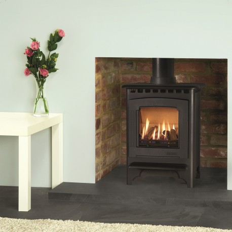 Gas Stove Gazco Marlborough2 Small, High Efficiency (76%) Glass Fronted Freestanding Gas Stove. GSTCF