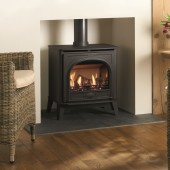 Gas Stove Gazco Stockton2 Medium, High Efficiency (90%) Balanced Flue Gas Fire Stove.GSTBF