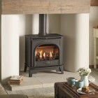 Gazco Stockton2 Medium, High Efficiency (78%) Glass Fronted Gas Stove, Conventional Chimney. GSTCF