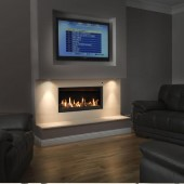 Gas Fire Gazco Studio 2 Slimline Edge, High Efficiency 82% 5kw Balanced Flue Gas Fire. GS2slim