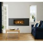 Gazco Studio 2 Slimline Balanced Flue Gas Fire with Verve Frame