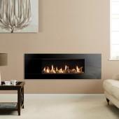 Gazco Studio 2 Slimline Balanced Flue Gas Fire with Black Glass Front