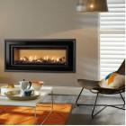 Gazco Studio 2 Slimline Balanced Flue Gas Fire with Zero Clearance Frame