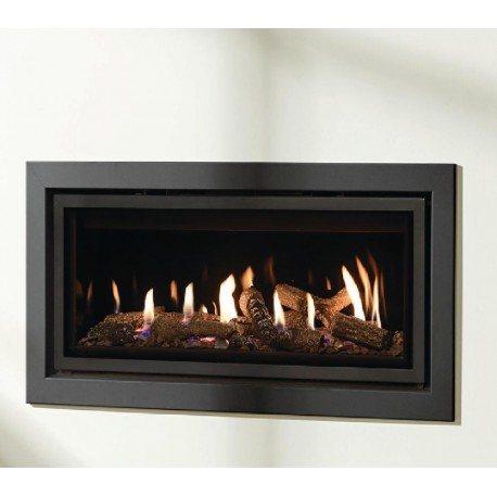 Gazco Studio 1 Profil Conventional Flue, High Efficiency (72%) 4.97kw Glass Fronted Conventional Flue Gas Fire. GS1cf